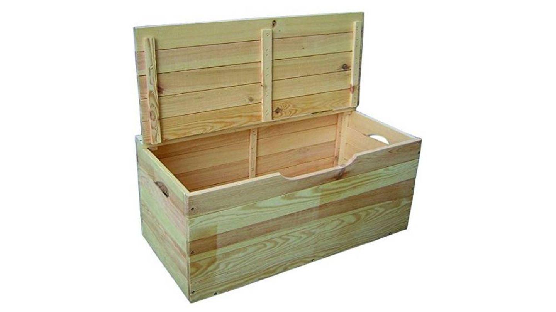 Baúl de madera de hibisco con tapa Blinky