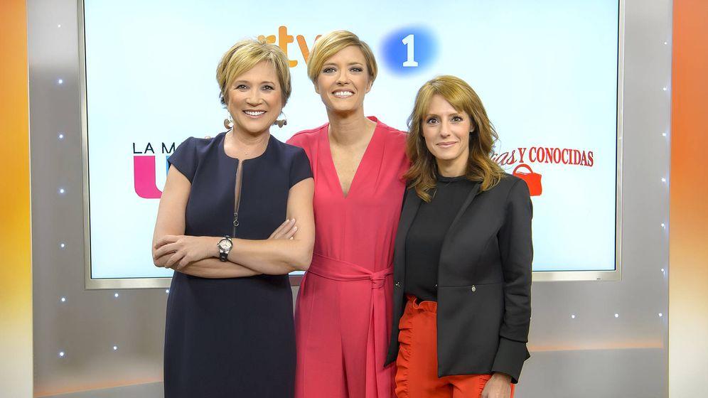 Foto: Las tres presentadoras de la franja matinal de La 1.