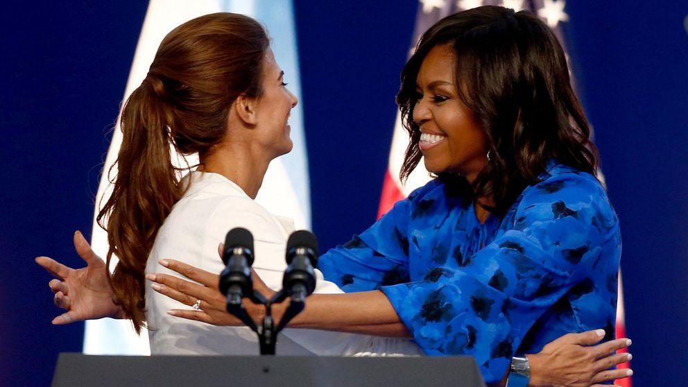 Michelle Obama y Juliana Awada sacan sus mejores galas en su primera cita