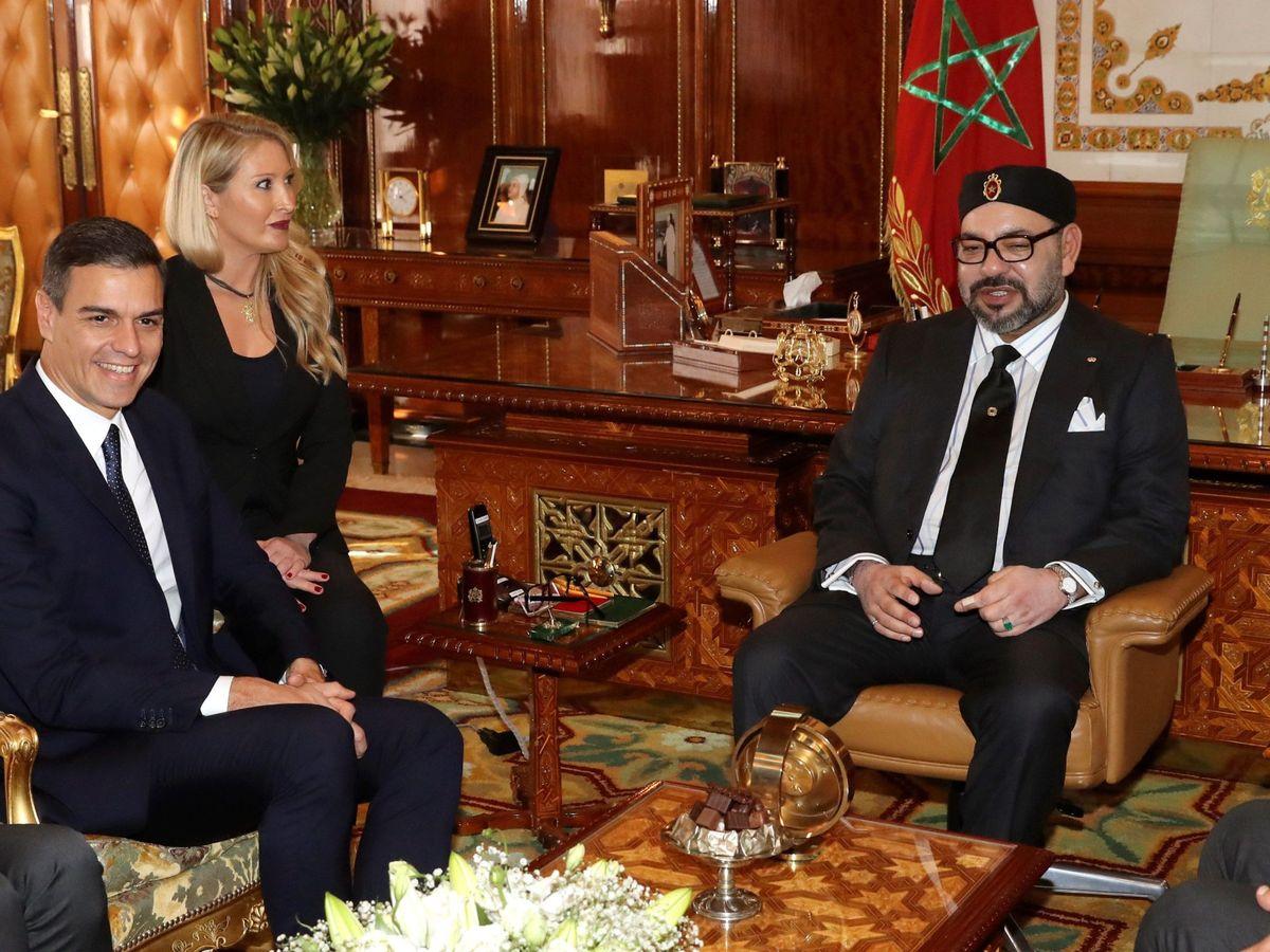 Foto: El presidente del Gobierno español, Pedro Sánchez, y el rey Mohamed VI de Marruecos, en 2018. (EFE)