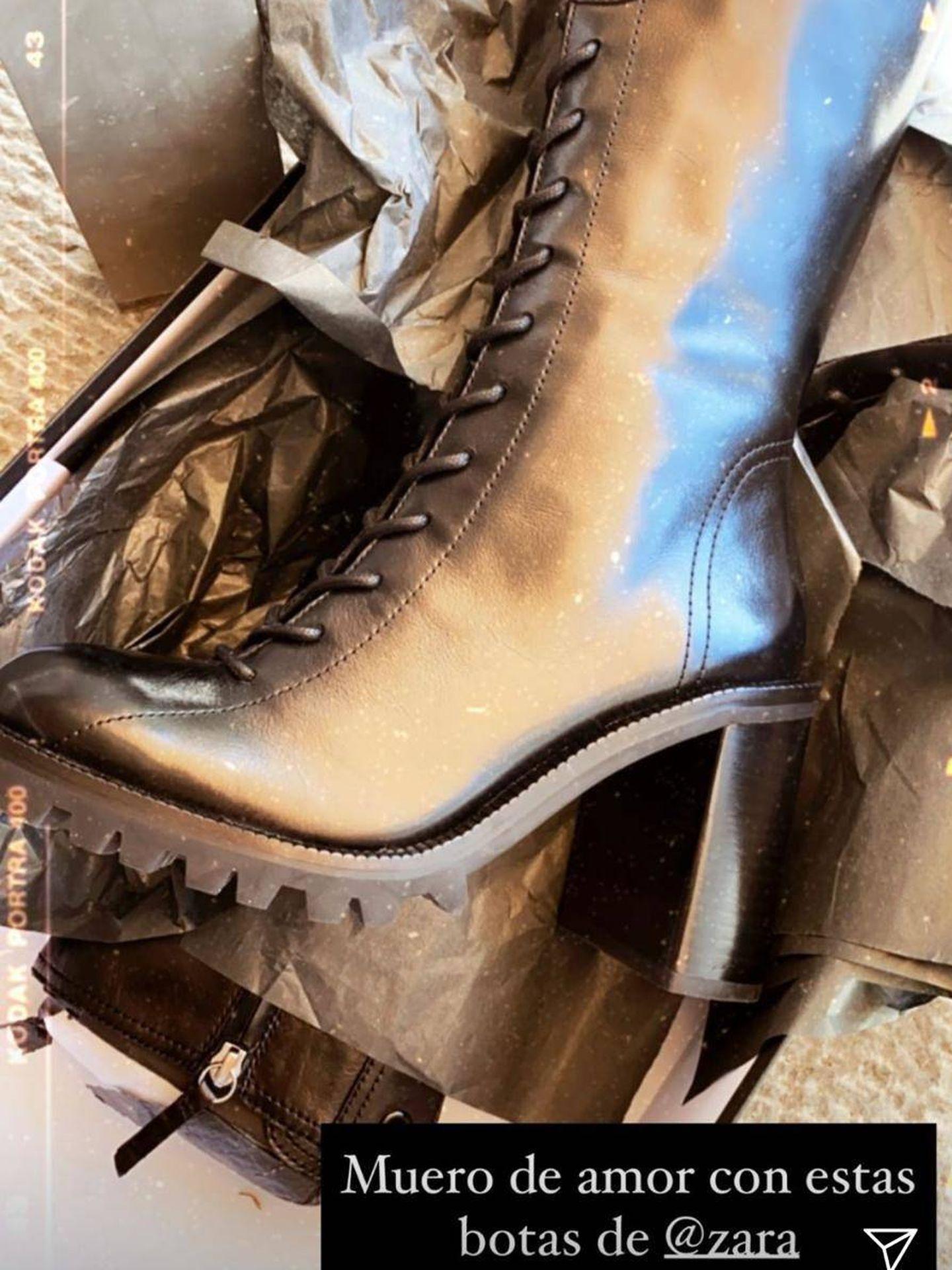 Vicky Martín Berrocal le declara su amor a los botines de Zara. (Instagram, @vickymartinberrocal)