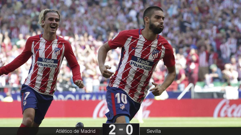 Foto: Carrasco y Griezmann fueron los goleadores del Atlético de Madrid. (EFE)