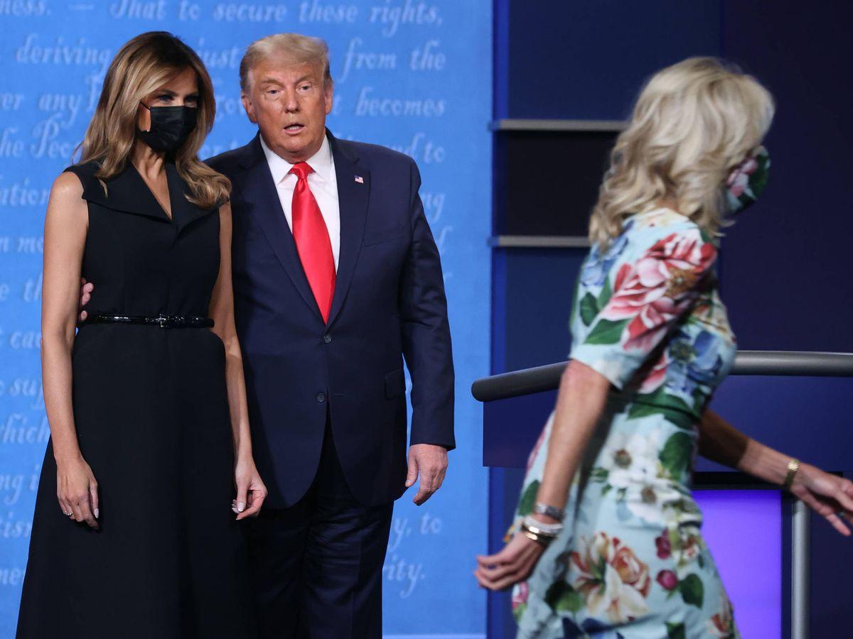 Foto: El debate final. (Getty)
