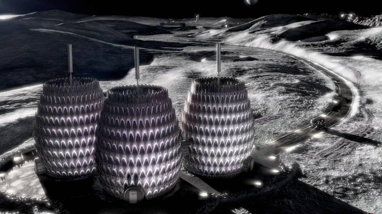 Tres habitas de la base Lunar Lantern (Icon/Search /BIG)