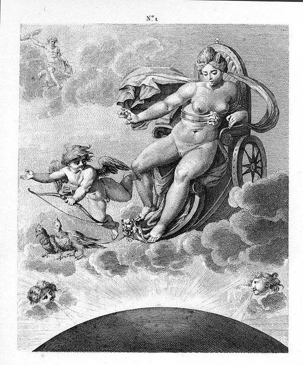 Foto: La Venus Genetrix, interpretada por Carracci, como el resto de grabados del artículo. (CC)