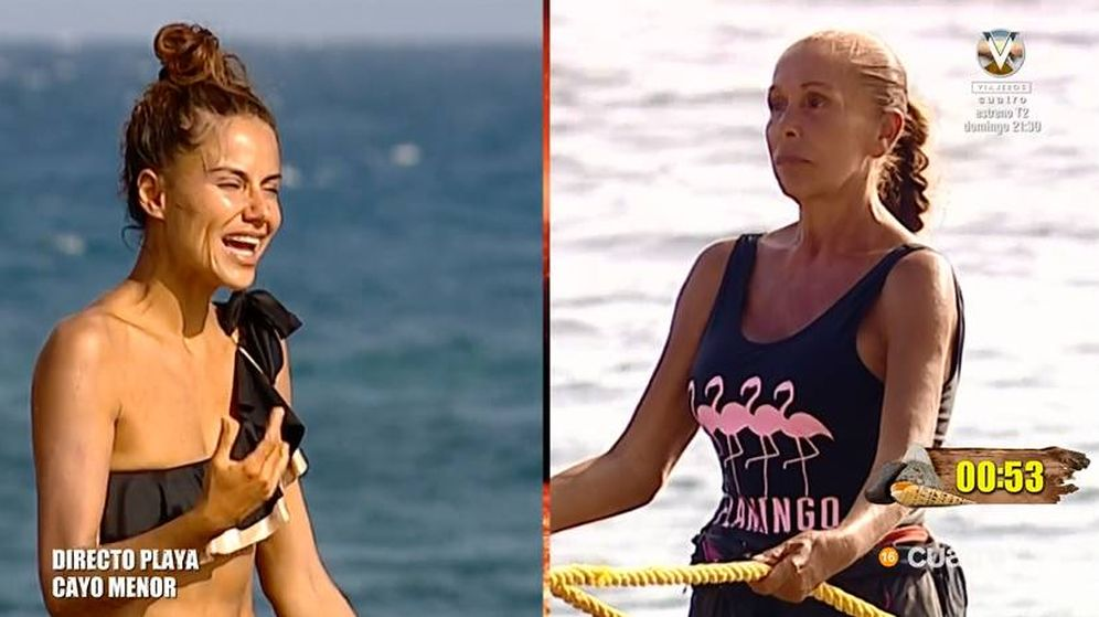 Foto: Mónica Hoyos e Isabel Pantoja ajustan cuentas en 'Supervivientes'. (Telecinco)