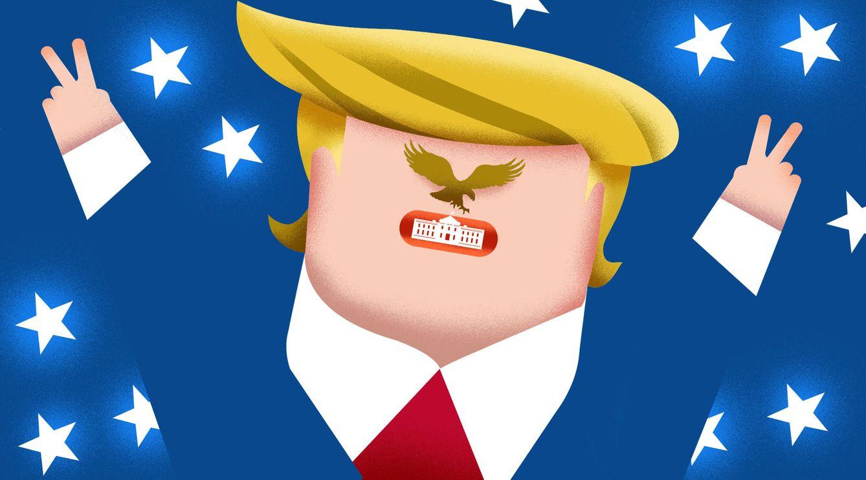 Foto: Donald Trump, presidente de Estados Unidos. (Ilustración: Raúl Arias)
