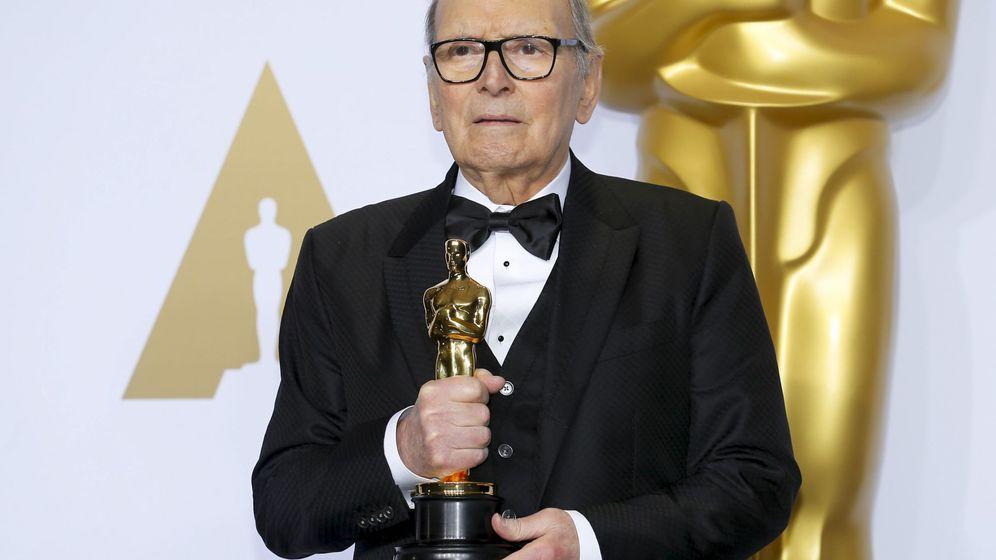 Foto: Ennio Morricone se ha llevado por fin el Oscar a la Mejor Banda Sonora por 'Los odiosos ocho'
