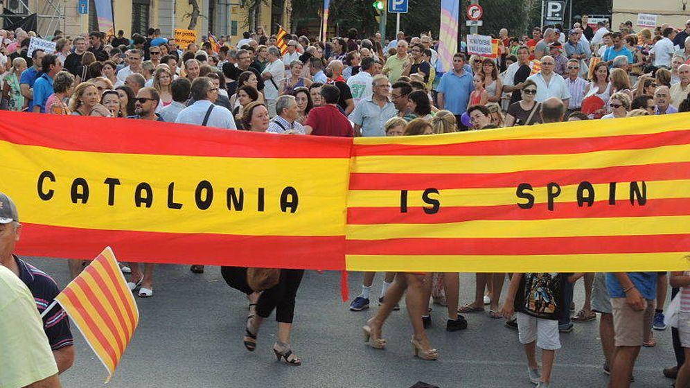 Foto:  Manifestación a favor de la unidad de España.