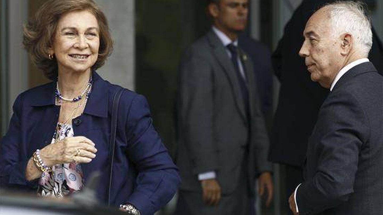 La reina Sofía, con José Cabrera. (EFE)