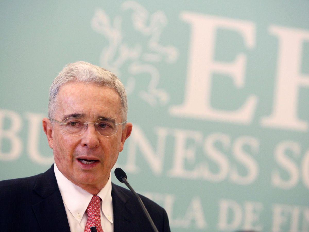 Foto: Senador y expresidente de Colombia, Álvaro Uribe. (EFE)