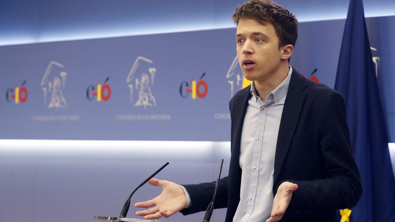 Errejón ofrece una rueda de prensa en el Congreso de los Diputados. (EFE)