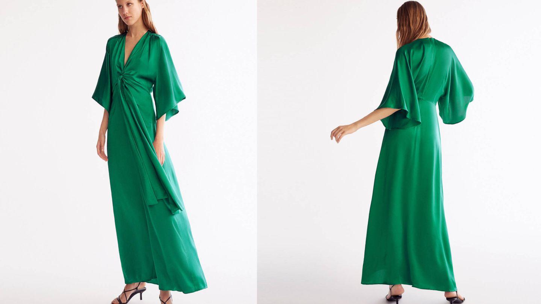 Knotted Green Dress de Uterqüe (79€).