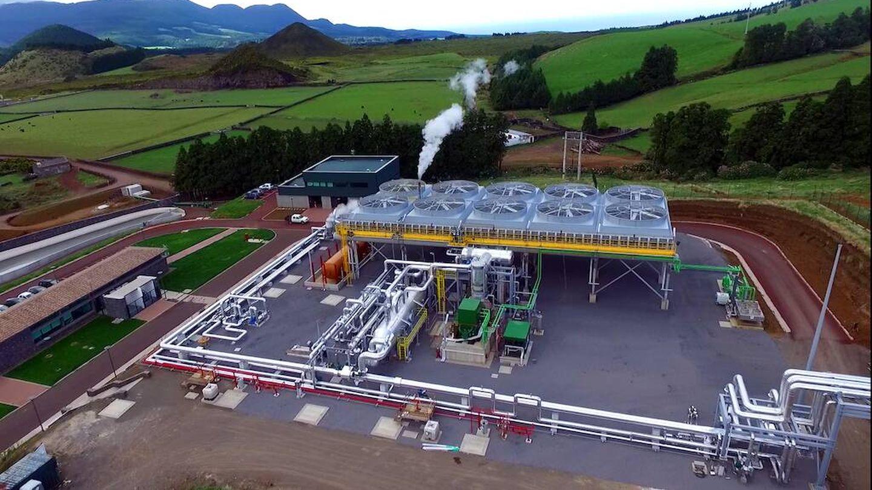 Planta geotérmica de Pico Alto, en las islas Azores.
