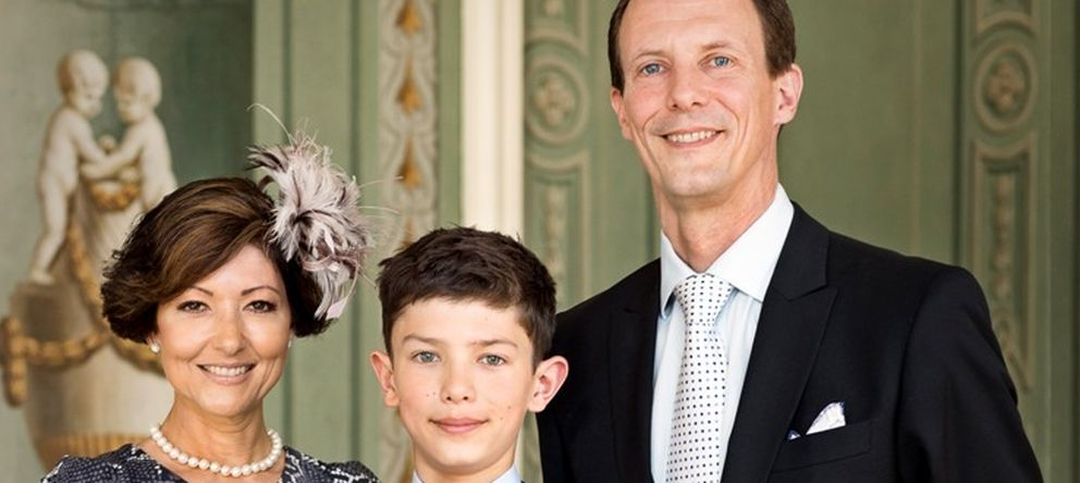 Foto: El príncipe Joaquín junto a su exesposa Alexandra y su hijo Nicolás