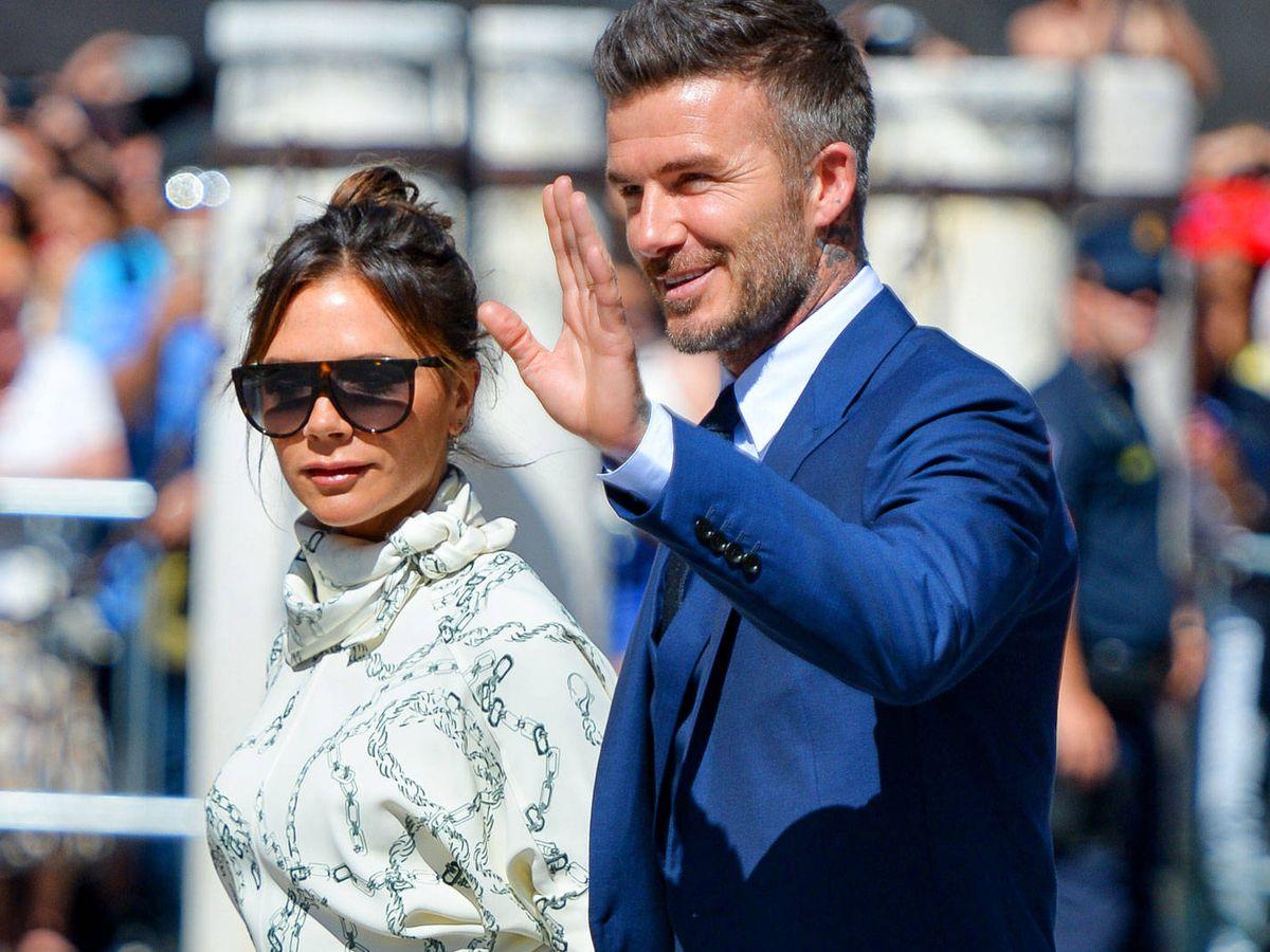 Foto:  David y Victoria Beckham, en la boda de Pilar Rubio y Sergio Ramos. (Getty)