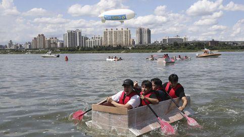 Concurso de barcas hechas de papel