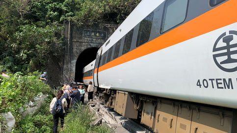 Al menos 48 muertos y 118 heridos tras descarrilar un tren en Taiwán