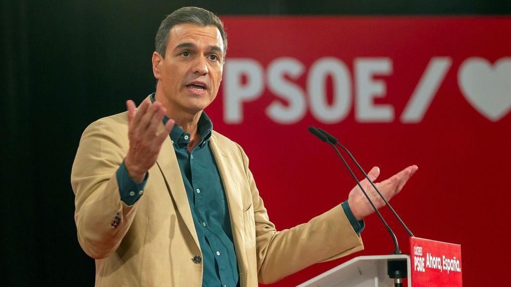 Foto: Pedro Sánchez, en un acto preelectoral en Cáceres. (EFE)