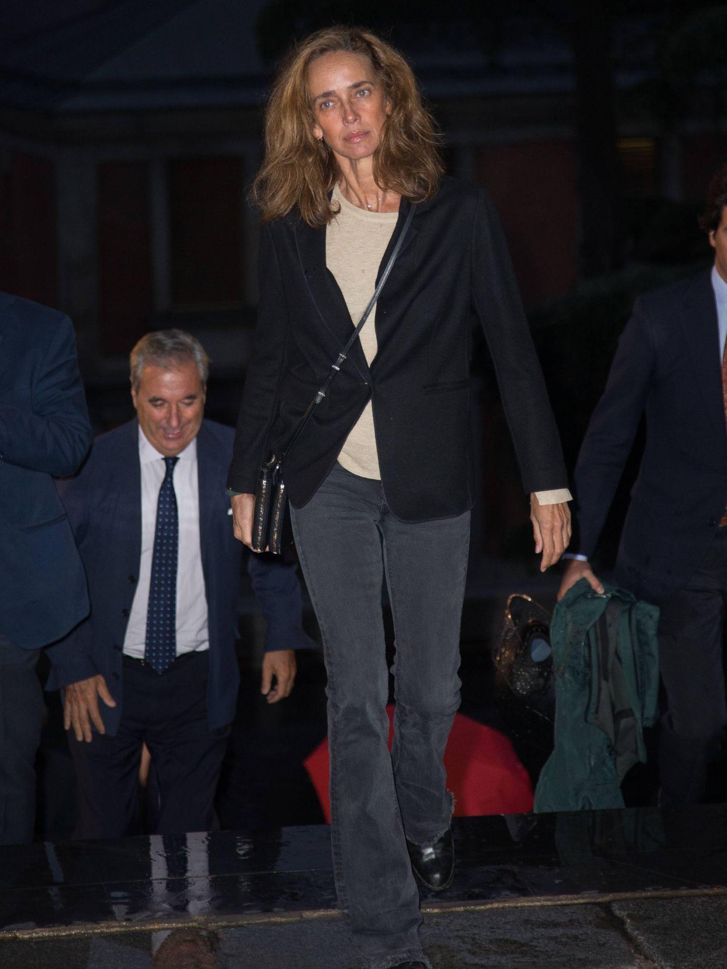 Blanca Suelves, en el funeral de Germán López Madrid. (Lagencia Grosby)