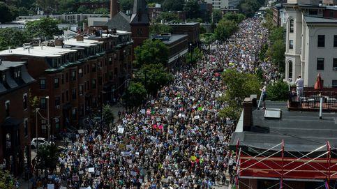 Contraprotesta multitudinaria en Boston eclipsa a la ultraderecha