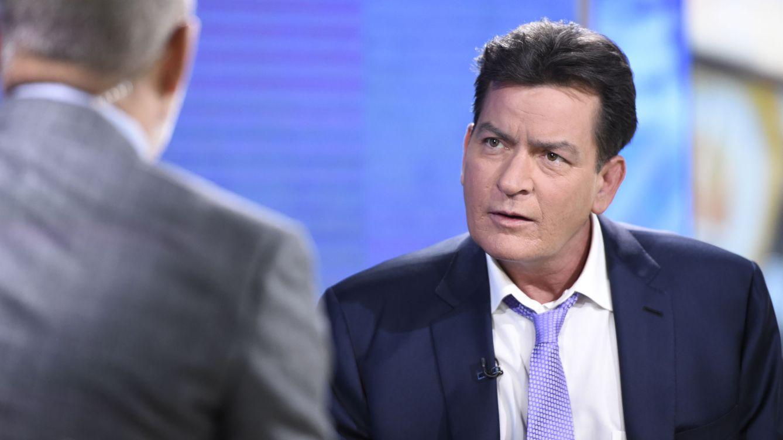 Foto: Charlie Sheen durante una intervención televisiva.