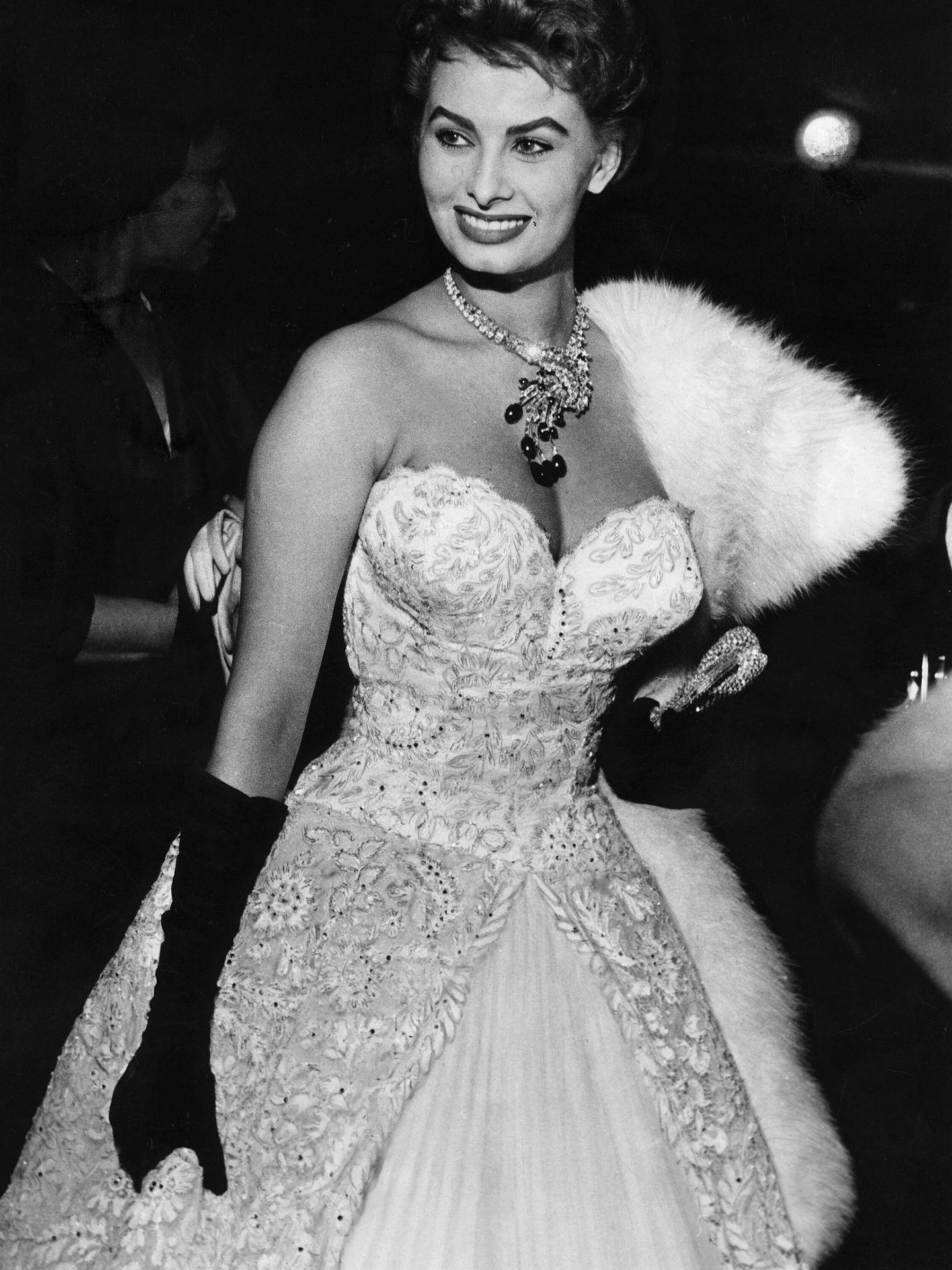Sophia Loren, en el Festival de Cannes de 1955. (Getty)