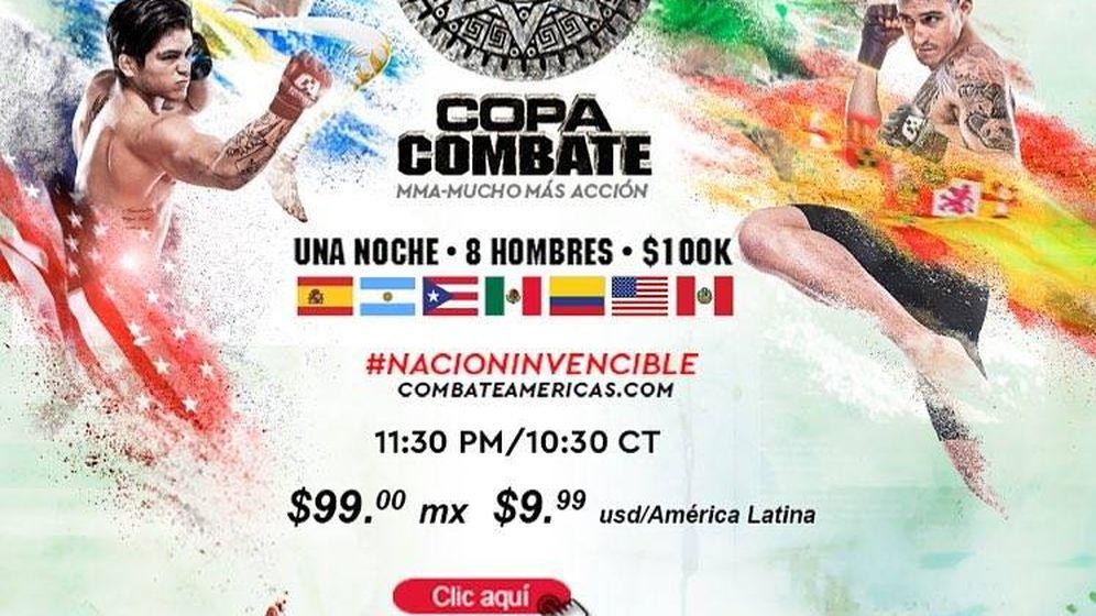 Foto: Cartel de Copa Combate de México, con Marc Gómez.