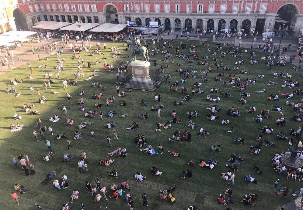 Foto: Vista de la Plaza Mayor en una foto difundida por el concejal Jorge García Castaño