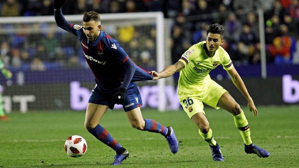Foto: Chumi, durante el partido que el FC Barcelona disputó contra el Levante en Copa. (Cordon Press)