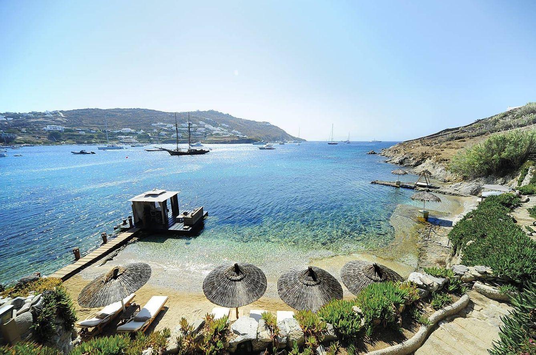 Foto: El hotel Kivotos, en Miconos, es así: lujosamente mediterráneo
