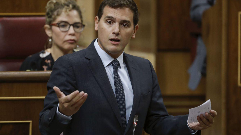 Foto: El presidente de Ciudadanos, Albert Rivera, en el Congreso (Efe)