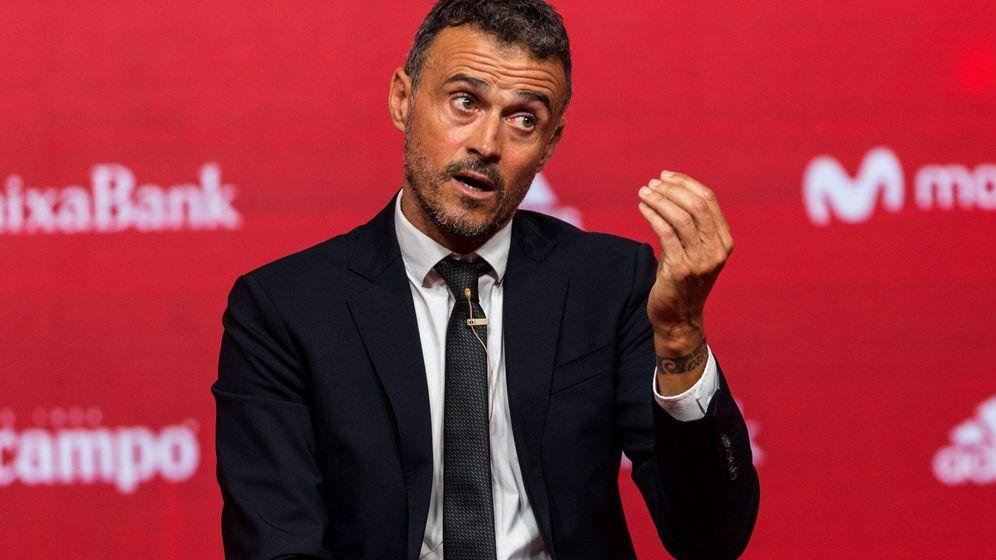 Foto: Luis Enrique, en la rueda de prensa. (EFE)