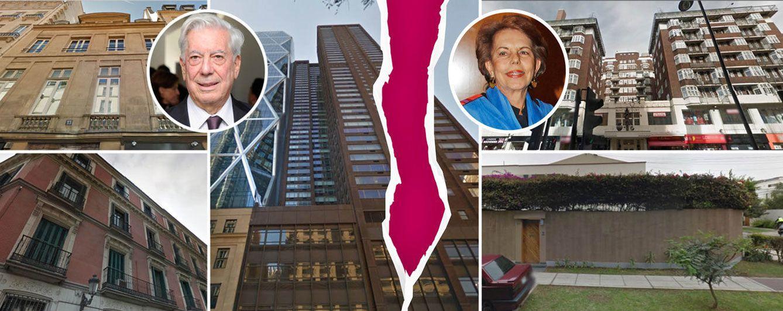 Mario Vargas Llosa y Patricia se reparten su ingente patrimonio inmobiliario