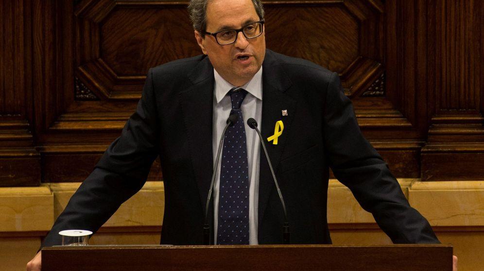 Foto:  El candidato de JxCat a ser investido presidente de la Generalitat, Quim Torra. (EFE)