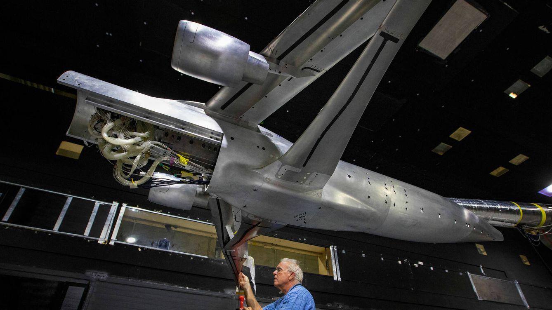 Foto: El último diseño del ala en pruebas en el Langley Research Center (NASA)