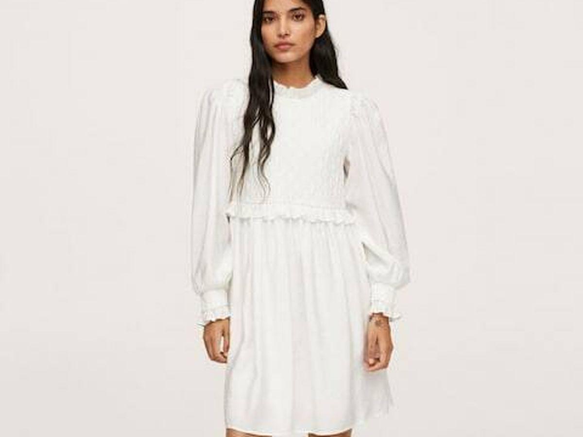 Foto: El vestido blanco de Mango. (Cortesía)