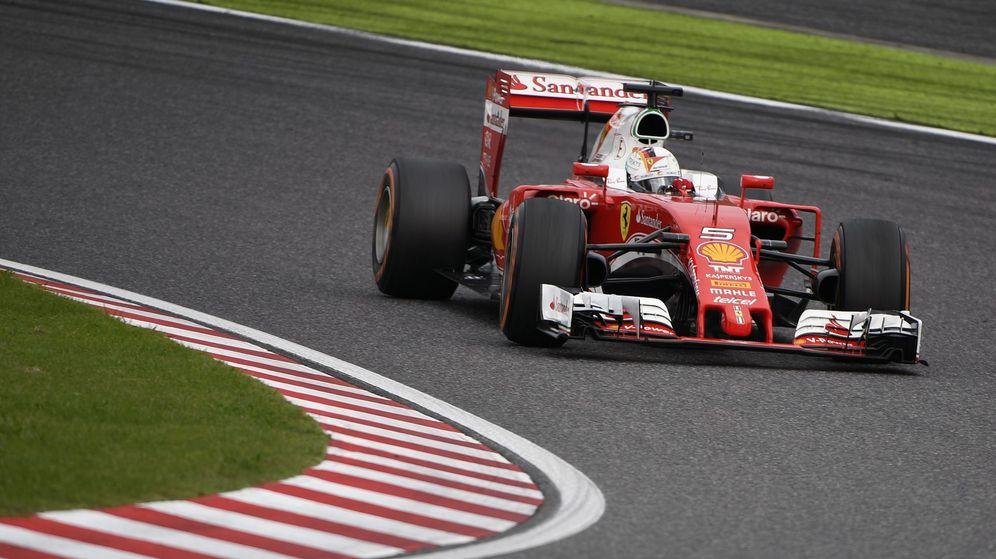 Foto: Sebastian Vettel en el pasado GP de Japón.