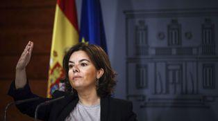 Soraya analiza la situación del 'procés' con el conde de Godó