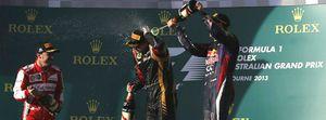 Foto: Raikkonen gana en Australia con Alonso en segundo lugar, por delante de Vettel