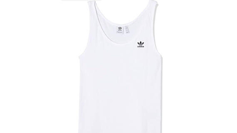 Top blanco para running mujer Adidas Tank Top