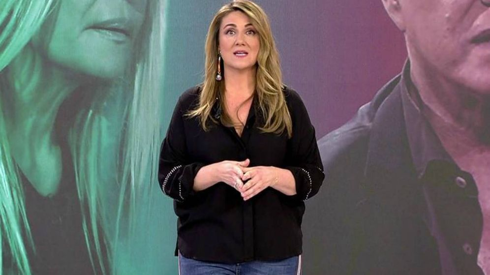 Foto: Carlota Corredera en 'Sálvame'. (Mediaset España)