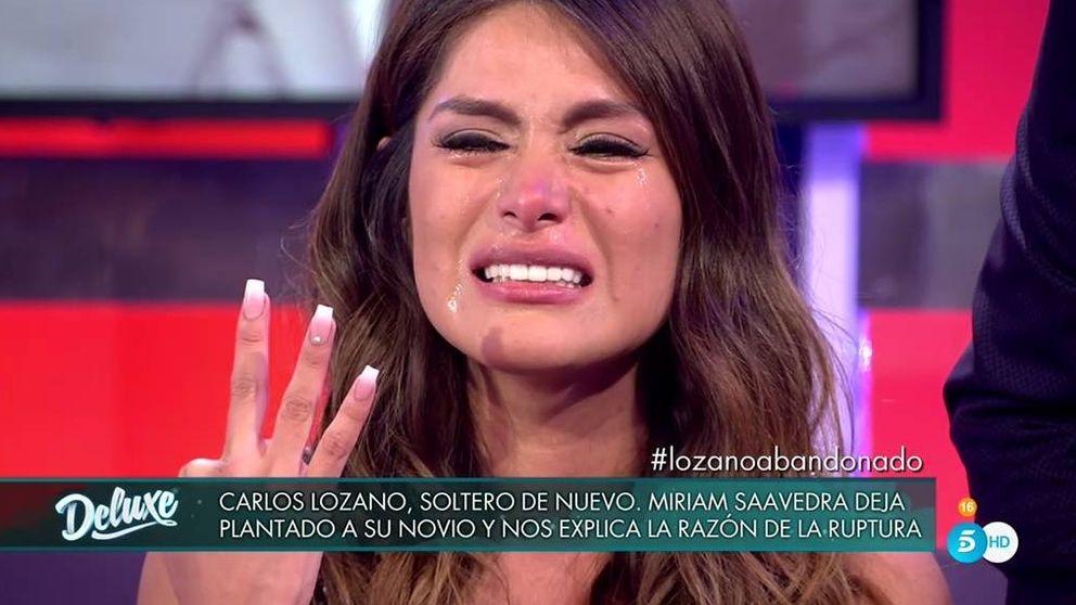Miriam Saavedra se rompe en el 'Deluxe' tras su ruptura con Carlos Lozano