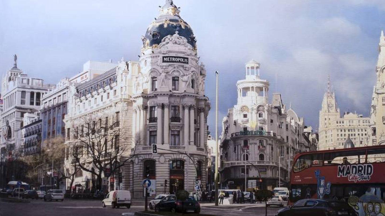El cruce de la Gran Vía con la calle de Alcalá según Agustín González. ¡Es un cuadro! (Cortesía)