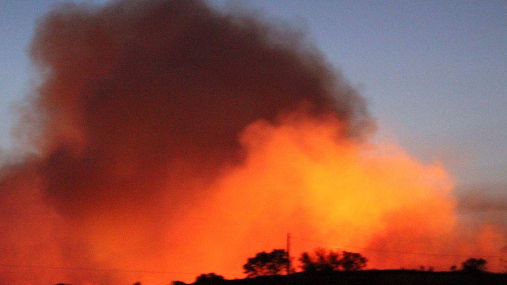 Foto: Viste del incendio cerca de Toledo. (EFE)