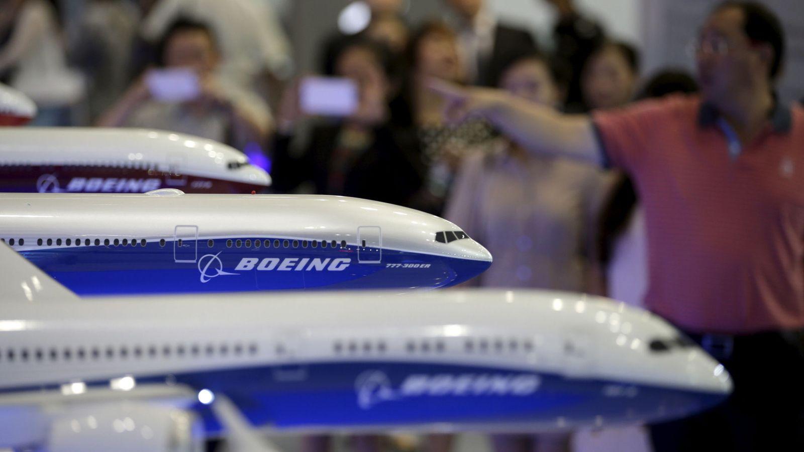 Foto: Modelos de Boeing en una feria aeronáutica en China. (Reuters)