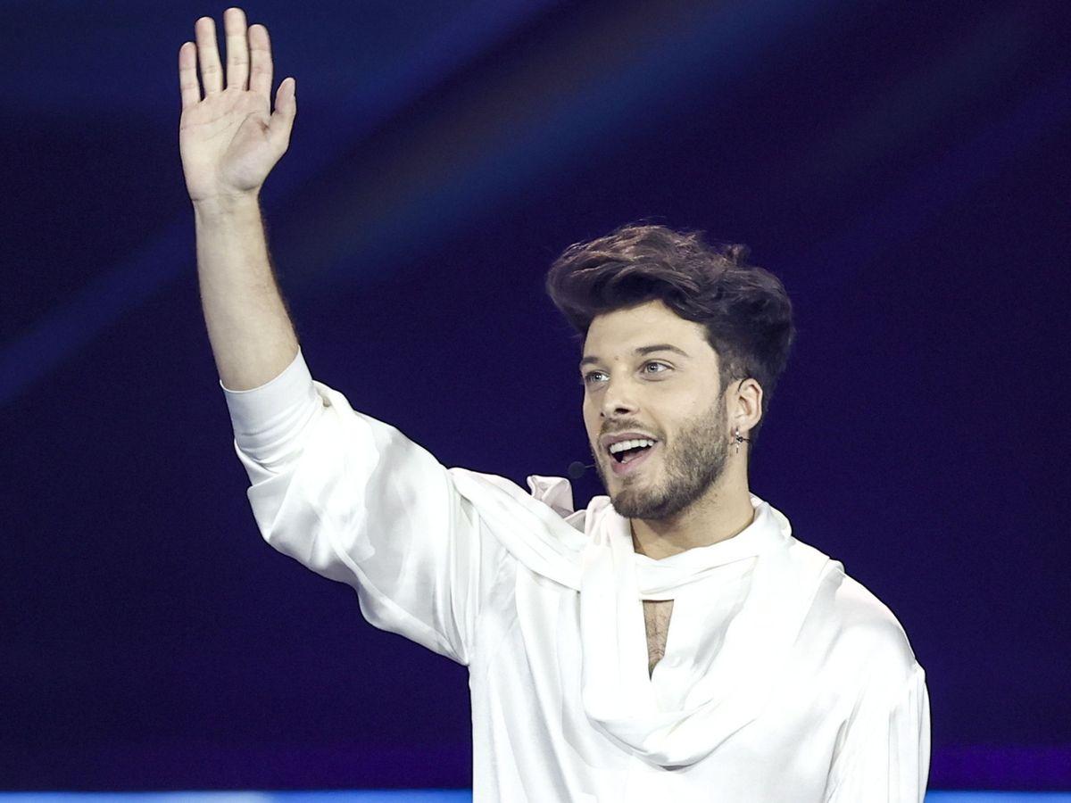 Foto: Blas Cantó, en la segunda semifinal de Eurovisión 2021. (Agencia EFE)