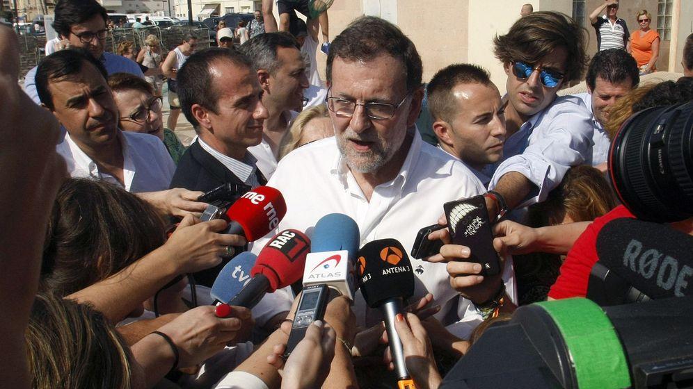 Foto: Mariano Rajoy en Santa Pola. (EFE)
