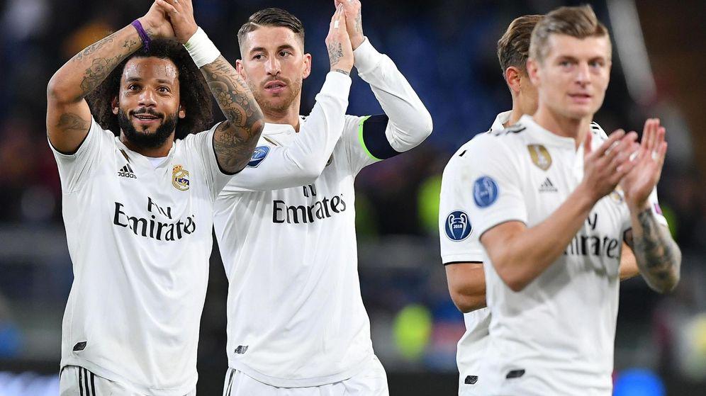 Foto: Jugadores del Real Madrid celebran una victoria. (EFE)