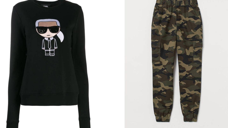Sudadera de Karl Lagerfeld y pantalón de H&M.